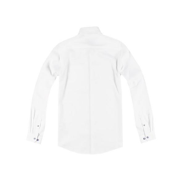 Unifarbenes Hemd mit Kontrastdetails