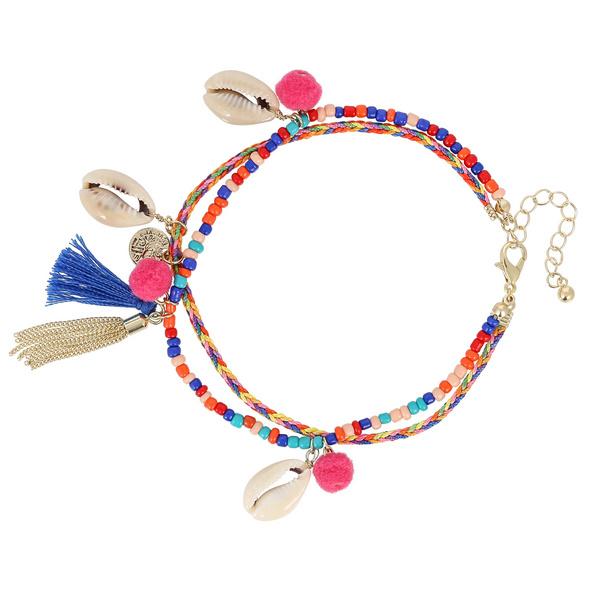 Fußkettchen - Colorful Shell