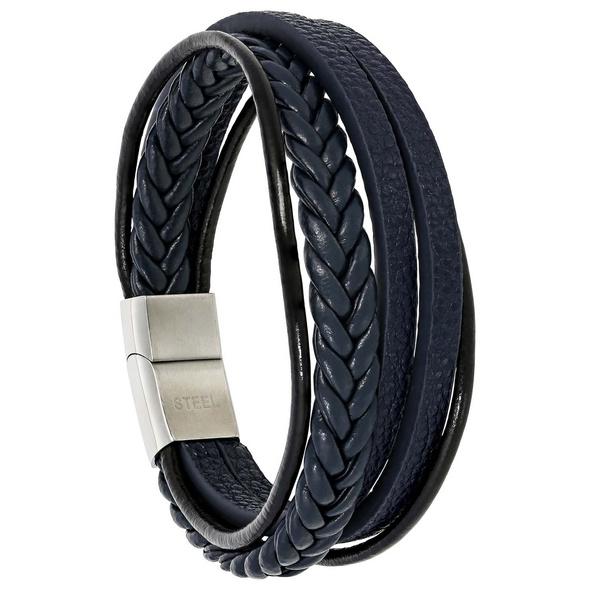 Herren Armband - Blue Leather