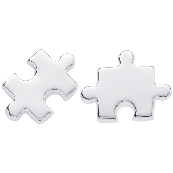 Ohrstecker - Silver Puzzle
