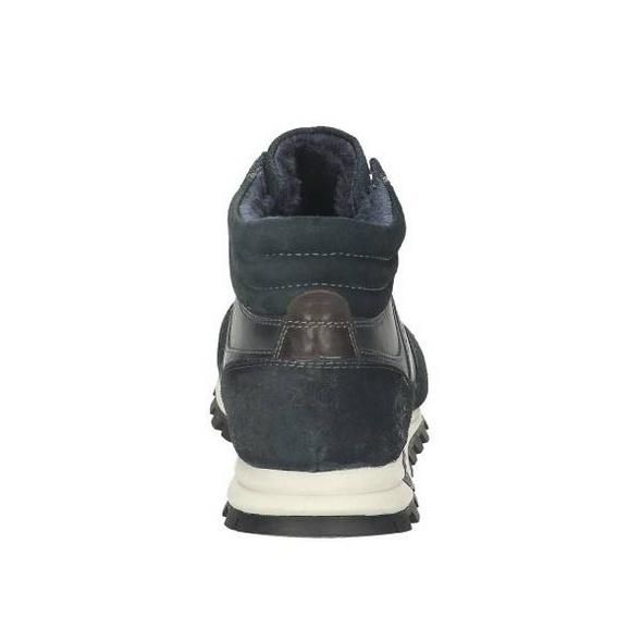 High Top Sneaker im Mix aus Glatt- und Veloursleder