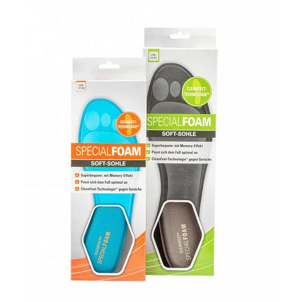 Superbequeme Softsohle mit Memory Effekt, Passt sich dem Fuß optimal an, mit 100 % biologischer CleanFeet Technologie