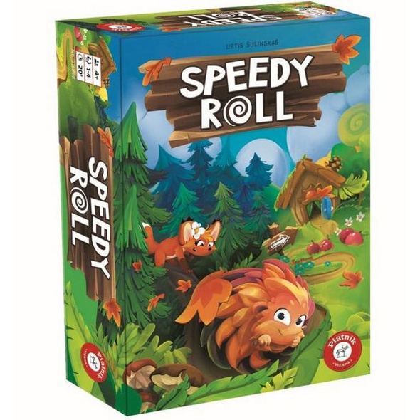 Pegasus PIA07168 - Speedy Roll, Brettspiel, Familienspiel