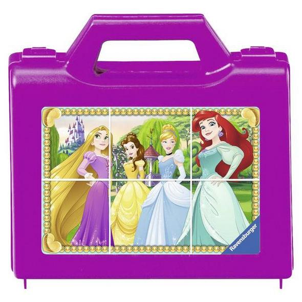 Ravensburger 07428 - Disney Princess, Funkelnde Prinzessinnen, Würfelpuzzle, 6 Motive