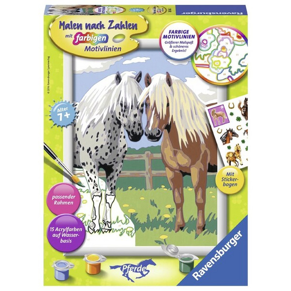 Ravensburger Malen nach Zahlen, Glückliche Pferde, Malset
