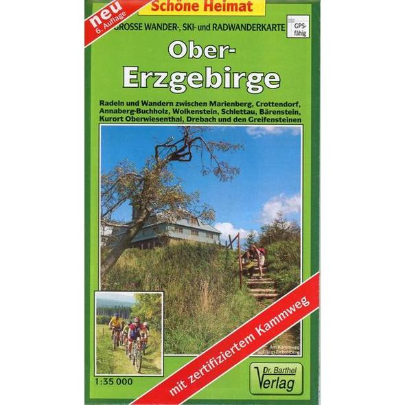 Radwander- und Wanderkarte Obererzgebirge 1 : 35 000