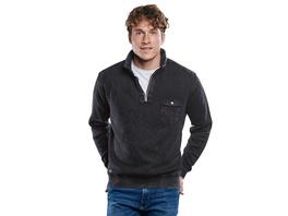 Sweatshirt mit Rippenstruktur