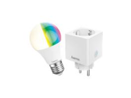 Hama Smarthome Set: 3 WiFi-LED-Lampen und 3 WiFi-Steckdosen